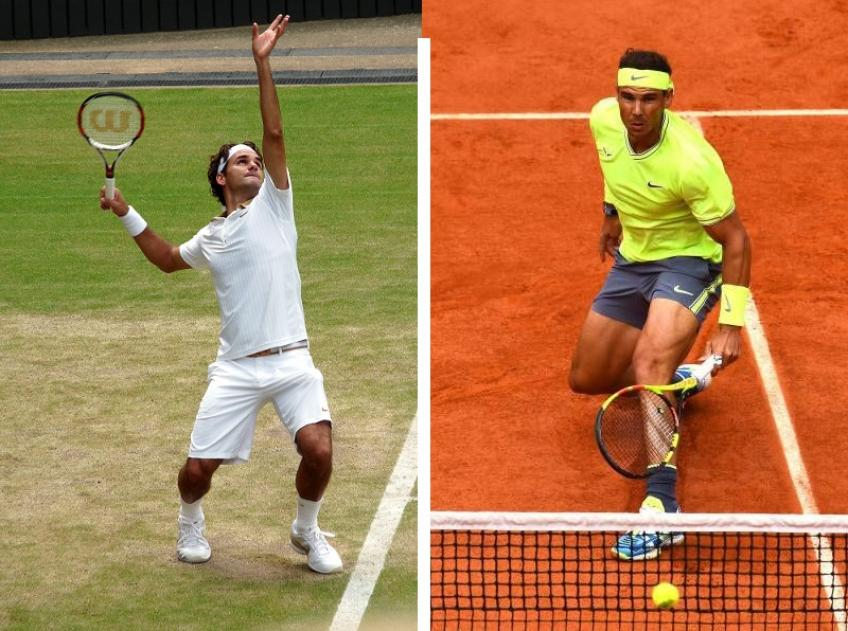 Roger Federer and Rafael Nadal: a grass-clay-courts clash