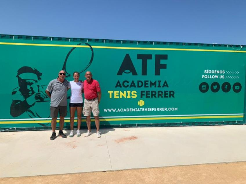 Top French junior Diane Parry trains at the Ferrer Tennis Academy