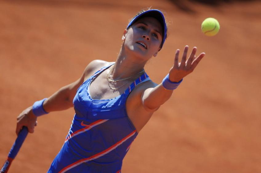 WTA Prague: Eugenie Bouchard battles past Tamara Zidansek. Sorribes Tormo advances
