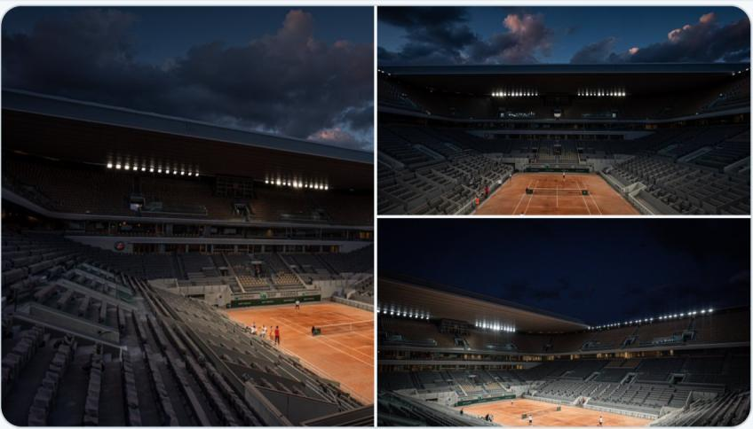 Philippe Chatrier: the restyling is complete with lights and roof!