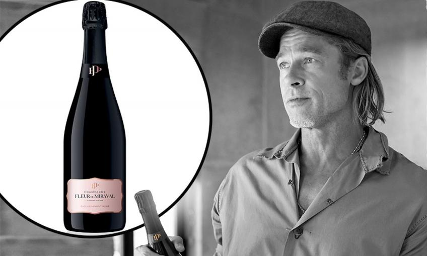 Spoil yourself with a sip of Brad Pitt's new champagne