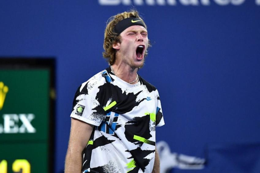 ATP US Open: Andrey Rublev comes from set down to oust hard-hitting Matteo Berrettini