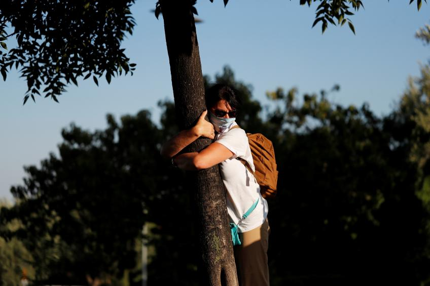Feeling lonely during lockdown? Hug a tree