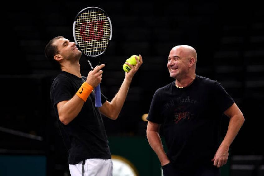 Grigor Dimitrov explains how much it helps to have Andre Agassi as his coach