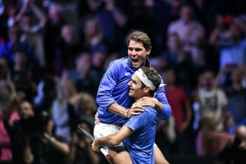 Rafael Nadal: In some way I think Roger Federer is happy when I'm winning