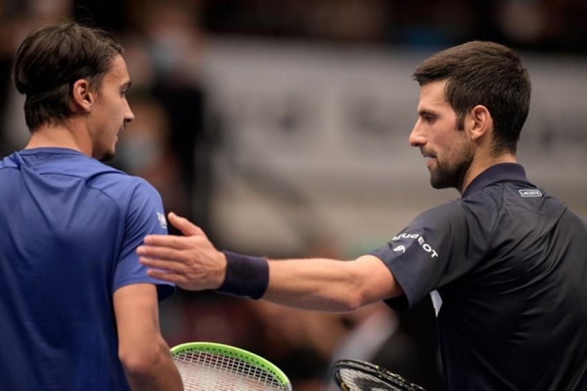 Lorenzo Sonego: 'Novak Djokovic complimented me after Vienna, but we didn't..'