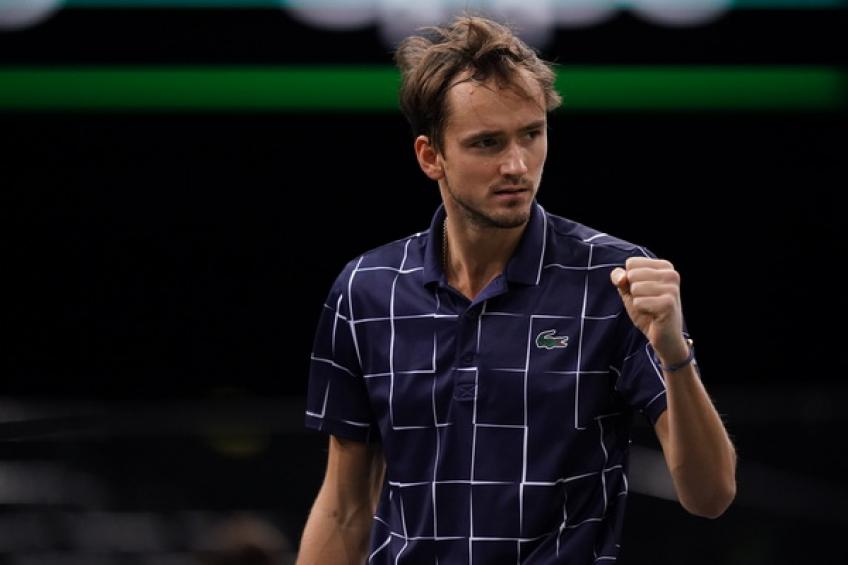 ATP Paris: Daniil Medvedev passes Roger Federer after toppling Schwartzman