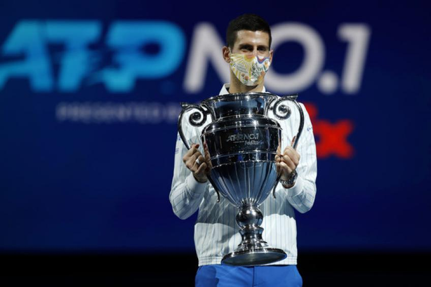 Novak Djokovic moves closer to Rafael Nadal's year-end No. 1 ranking record
