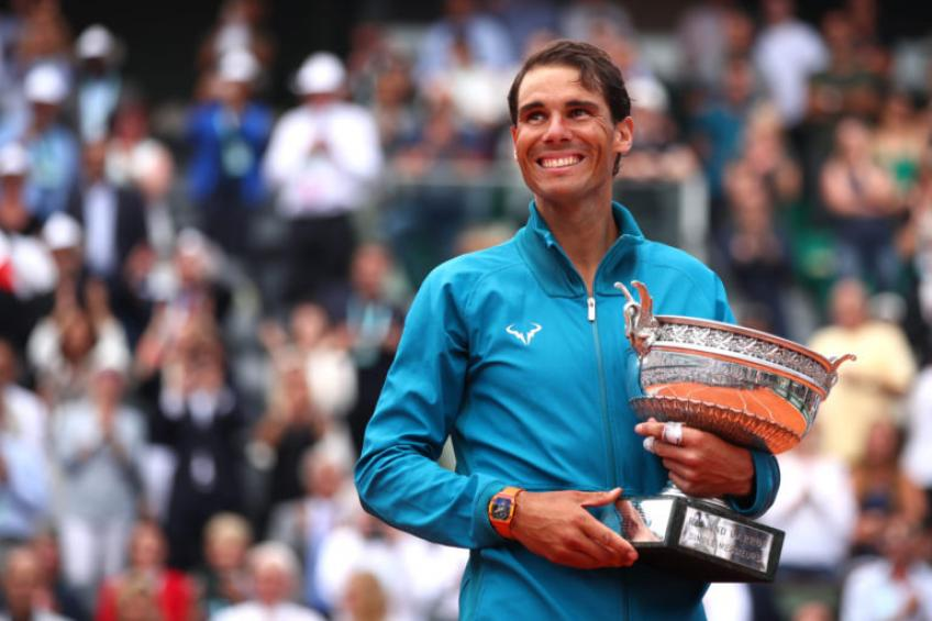 'That's why it takes a lot to train with Rafael Nadal', says young star