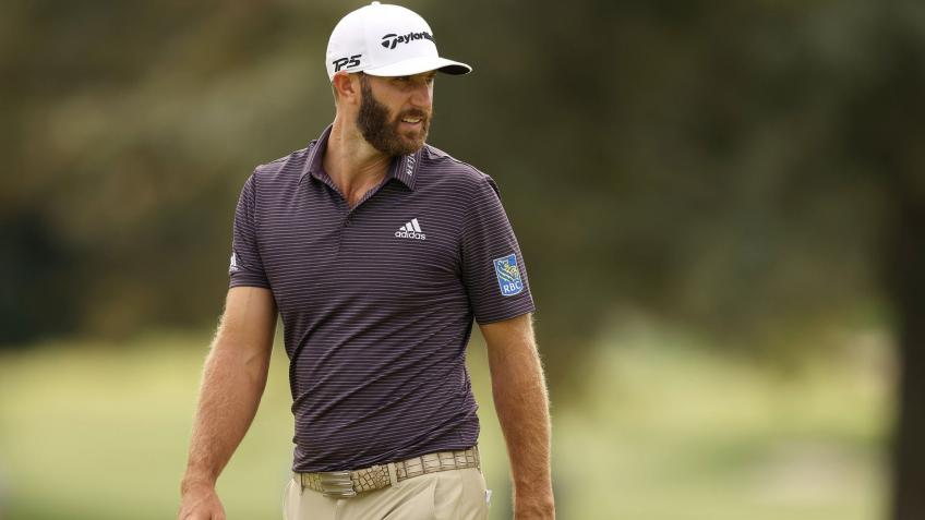 World Ranking, first place for Dustin Johnson