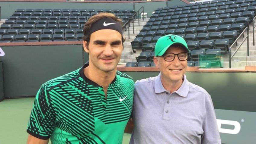 """Bill Gates on Roger Federer: """"They should take example from him"""""""