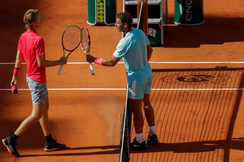 'Facing Rafael Nadal on Court Philippe-Chatrier was a dream for me,' says Korda