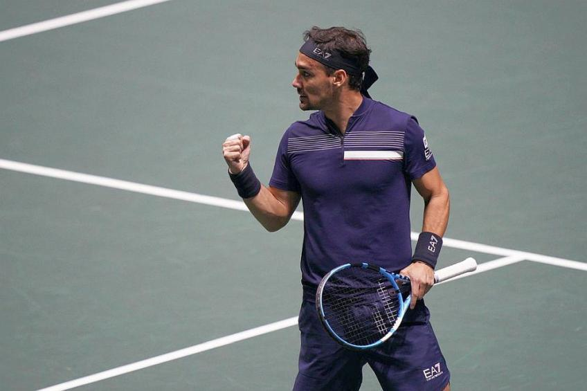 Fabio Fognini happy to lift form in key moment for Italy at ATP Cup
