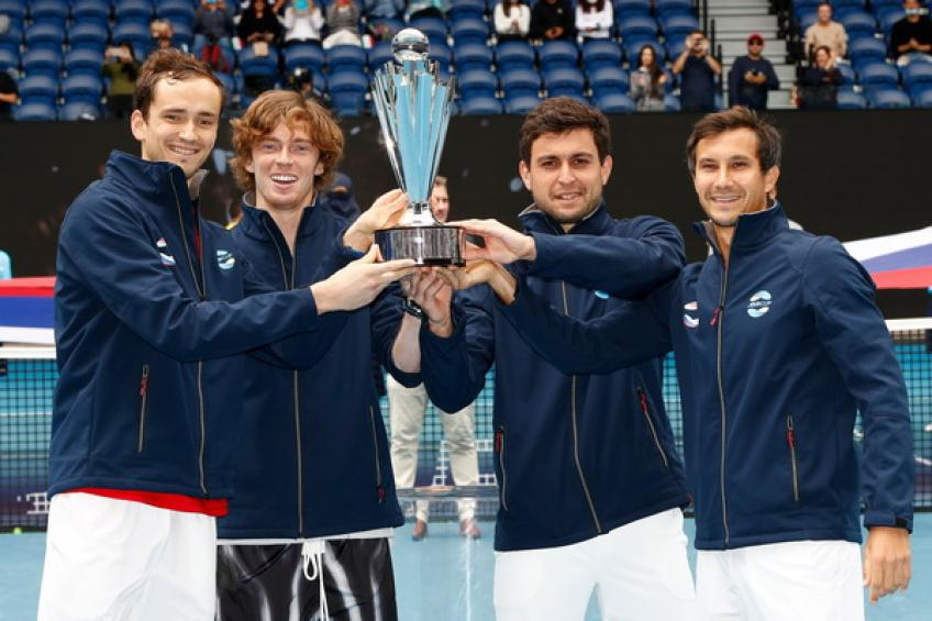 ATP Cup: Russia storms over Italy to celebrate the title