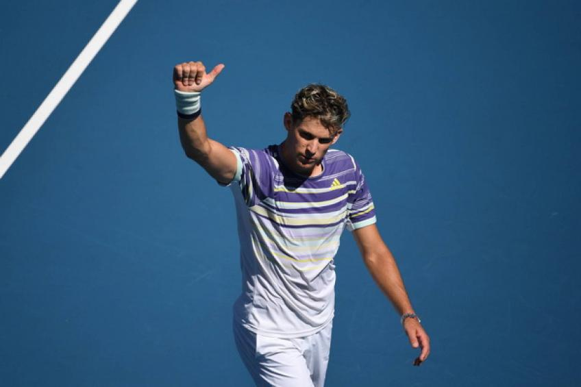 ATP Australian Open: Dominic Thiem survives early scare to challenge Djokovic, Nadal
