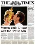 Tennis - The Times issues correction for false headline after Murray´s Wimbledon win