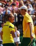 Davis Cup - Aussies win doubles to take 2-1 lead