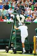 Are Chair Umps sitting targets for players?