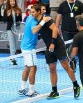 Novak Djokovic beats Rafael Nadal in a funny match exhibition in Milan