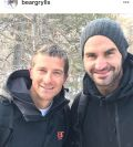 Bear Grylls meets Roger Federer and says: 'He is a humble, family centred man'