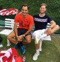 Andreas Seppi hits with Federer: 'Always a pleasure, King Roger'