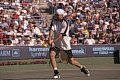 On this day: Andre Agassi experiences first default in a career after..