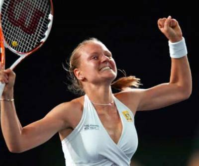 Tennis - Former world no. 13 Agnes Szavay honoured in ceremony during Budapest finals