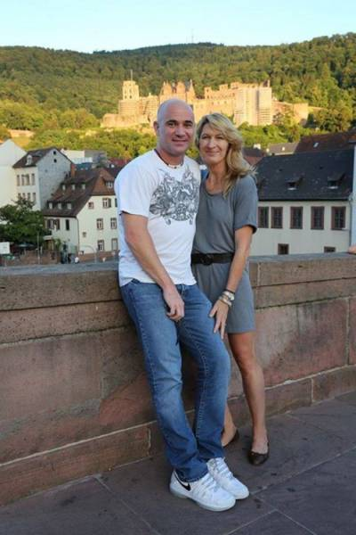 Tennis - Steffi Graf and Andre Agassi visit the Heidelberg Castle