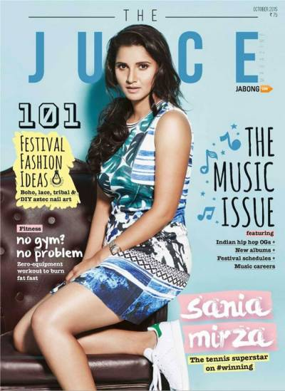 Sania Mirza Graces the Cover of Juice Magazine´s October Issue