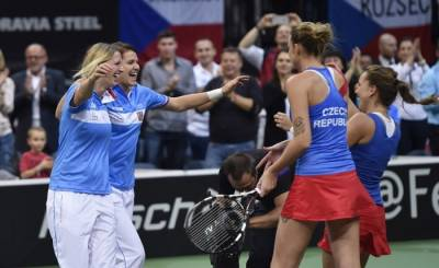 FED CUP - Czech Republic Wins Doubles to Beat Russia in the Final