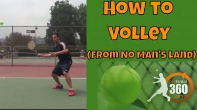 Tennis Volley Technique: How to Volley From No Man´s Land