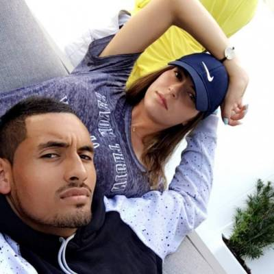 Nick Kyrgios and Ajla Tomljanovic get cosy at the US Open practice grounds (PICS INSIDE)