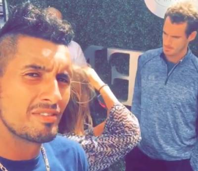 Nick Kyrgios trolls Andy Murray while the Briton was giving an interview (VIDEO INSIDE)