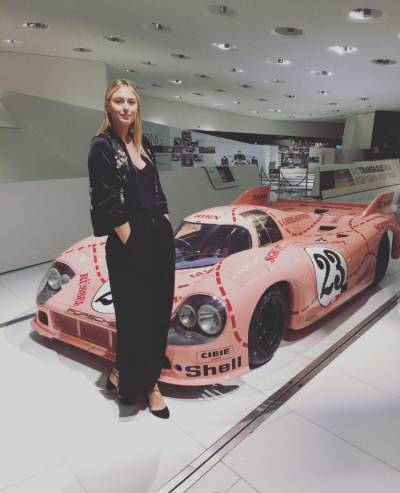 Is Maria Sharapova a new Porsche testimonial again?