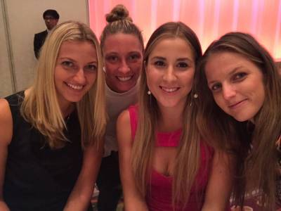 STUNNING Belinda Bencic, Aga Radwanska and  Garbine Muguruza at the WTA Tokyo Players' Party