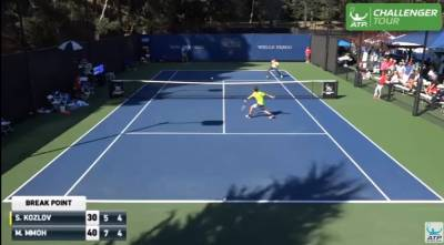 Fast Hands! Mmoh And Kozlov Hit Volley Hot Shots At Tiburon Challenger 2016