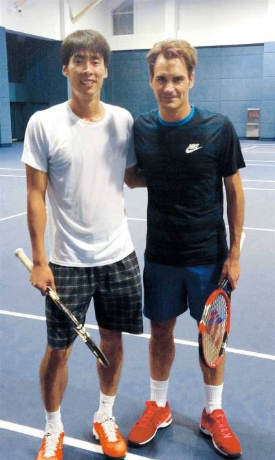 Roger Federer's sparring partner in Shanghai: 'He is elegant and perfect'