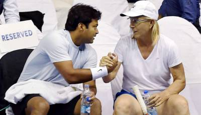 Leander Paes heaps praise on Martina Navratilova on her 60th birthday