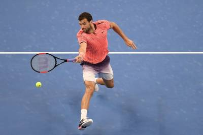 Dimitrov does not find the ball during return game