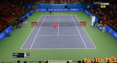 Dustin Brown vs Jack Sock Between The Legs Shot STOCKHOLM OPEN 2016