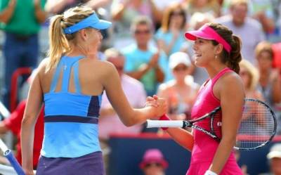 Garbine Muguruza and Maria Sharapova to play an exhibition in the 'Battle of Surfaces'