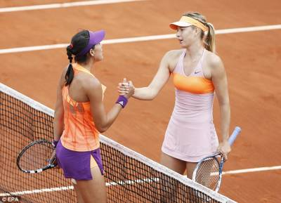 The exhibition between Muguruza and Sharapova has been postponed