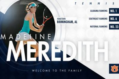 Auburn Tigers welcome Madeline Meredith for the next fall