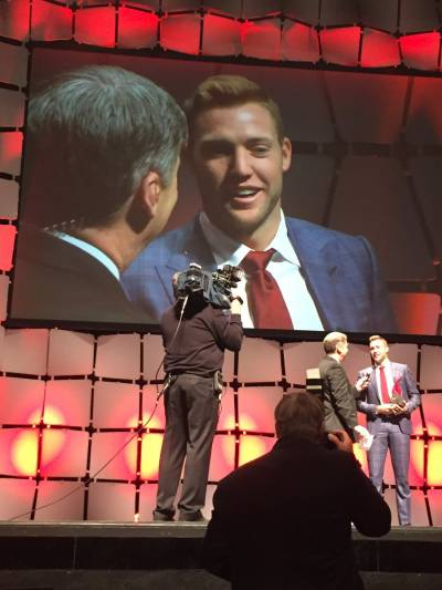 Jack Sock Receives Musial Award for Sportsmanship Conduct