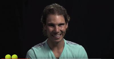 Serve and volley questions with... Rafael Nadal