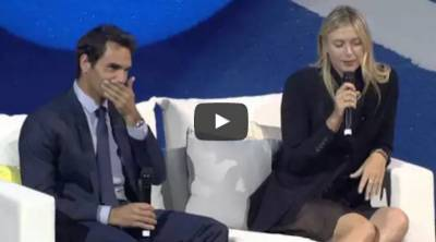 Federer asks Sharapova about starting young and injuries