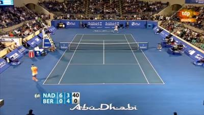 Amazing forehand by Nadal against Berdych