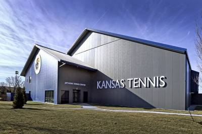 Kansas University Jayhawk opens Tennis Center at Rock Chalk Park