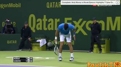 Djokovic breaks racket and receives point penalty