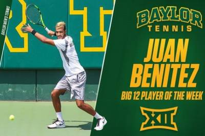 Juan Benitez takes the first big honor of the season, being named the Big 12 Player of the Week